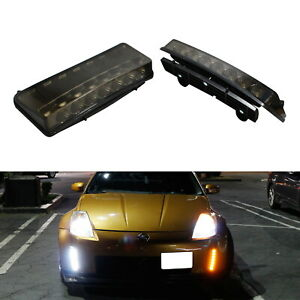 Smoked Switchback Led Daytime Running Light turn Signal For 03 05 Nissan 350z