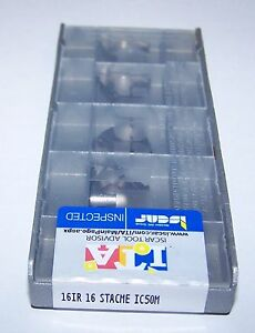 5 16ir 16 Stacme Ic50m Iscar Metals 1 Box Threading Inserts 5901144