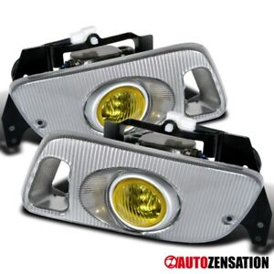 For 92 95 Honda Civic 2dr 3dr Yellow Bumper Fog Lights W Switch Wiring