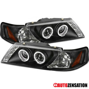 For 95 98 Nissan Sentra 200sx Black Halo Rims Projector Headlights W Smd Led Dr