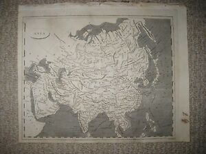 Antique 1804 Asia Arrowsmith Lewis Copperplate Map Arabia China Japan India Nr