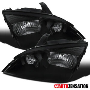 For 2005 2007 Ford Focus Pair Black Housing Headlights Lamps Left right
