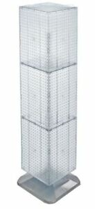 For Sale Floor Pegboard Revolving Display 4 Sided 14 Square X 60 H clear