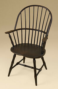Sack Back Windsor Arm Chair Bamboo Turnings Black Dining Or Kitchen Armchair