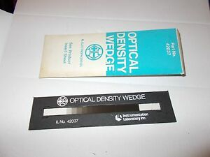 Instrumentation Laboratory Optical Density Wedge 14 Step 42037