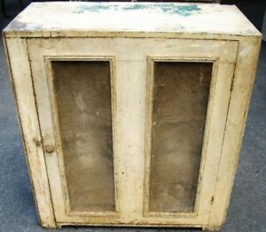 Antique Primitive Farm Fresh Pie Safe Cabinet Right Out Of The Old Farm Kitchen