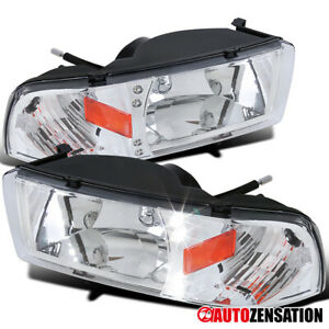 For 1994 2001 Dodge Ram 1500 2500 3500 Led Drl Clear Lens Headlights Lamps Pair