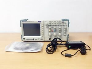 Tektronix Tps2012b 100mhz 1gs s 2ch Oscilloscope With P6100 Probe And Adaptor