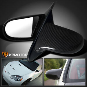 2002 2006 Acura Rsx Real Carbon Fiber Power Jdm Mirrors Left Right