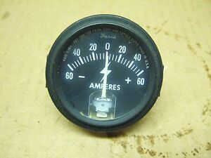 Ammeter 0 60 Amp tractor Farmall Ih Case Universal Oliver made In Usa