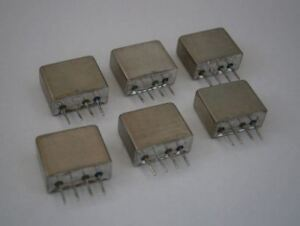 Lot Of 6 Mini Circuits Mcl Tfm 15 Plug in Frequency Mixer Level 7 10 3000 Mhz