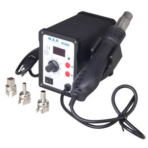 New 858d Soldering Rework Station Solder Iron Smd Hot Air Gun Dc Power Supply