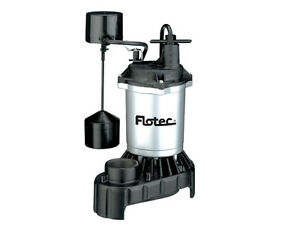 Flotec Submersible Thermoplastic Sump Pump 1 3 Hp fpzs33v