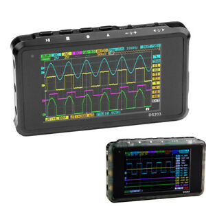 Portable Ds203 Lcd 4 ch Digital Oscilloscope 8mb Memory 72msa s Handheld Scope