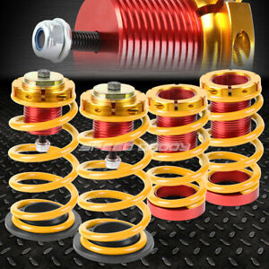For 12 15 Honda Civic 1 4 Adjustable Gold Spring Coilover Suspension Lowering