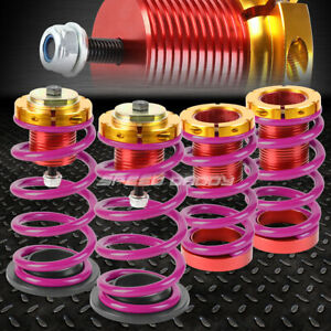 For 12 15 Honda Civic 1 4 Adjustable Purple Spring Coilover Suspension Lowering