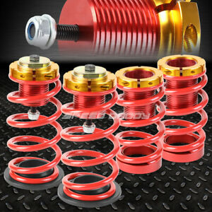 For 12 15 Honda Civic 1 4 Adjustable Red Spring Coilover Suspension Lowering