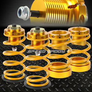 For 06 11 Honda Civic 1 4 Adjustable Gold Spring Coilover Suspension Lowering