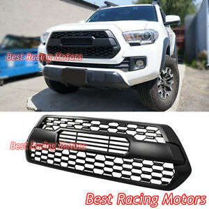 Tp Style Front Grille Insert Matte Black Fits 16 19 Toyota Tacoma