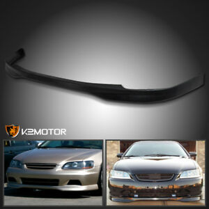 For 1998 2000 Honda Accord 2dr Coupe Black Abs T r Type Front Bumper Lip Spoiler