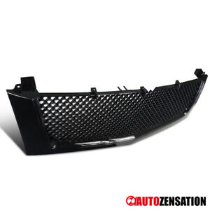 02 06 Cadillac Escalade Glossy Black Honeycomb Mesh Hood Grille