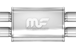 Magnaflow 4x9 14 Oval Straight Through Muffler 2 25 In Out Dual Dual 11385