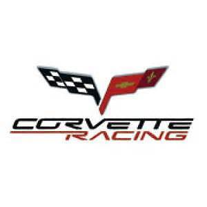 Chevrolet Corvette Racing Vinyl Decal With Flag 1 25 X 4 Free Shipping