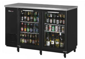 48in Narrow Depth Back Bar Cooler W Glass Doors