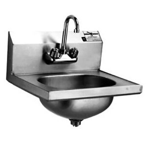 Eagle Group Hsa 10 f 1x Stainless Steel Wall Mount Hand Sink With Faucet