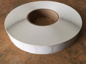 White Non Perf 1 Wafer Seals 5000 Per Roll 1 Mailing Tabs Labels Great
