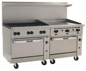 Vulcan 72sc 6b36gt 72 6 Burners 36 Thermostat griddle W convection std Ovens