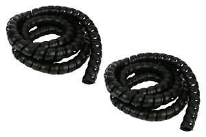 2x 1 1 8 Hydraulic Hose Spiral Wrap 10ft Wire Cover Guard Cable Organizer