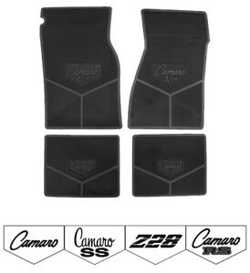 67 97 Camaro Custom Rubber Floor Mats Choose Logo And Color
