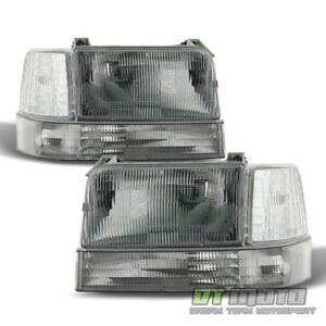 1992 1996 Ford Bronco F150 F250 Replacement Headlights Corner Light Bumper Lamps