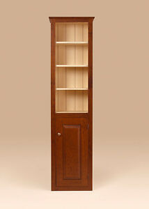 Chimney Cupboard Cherry Wood Cabinet Shaker Style Furniture Design Made In Usa