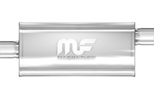 Magnaflow 5x8 18 Oval Straight Through Muffler 3 In Out Center Offset 12259