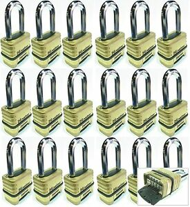 Combination Lock Set Master 1175lh lot 18 Resettable Long Brass Sealed Carbide