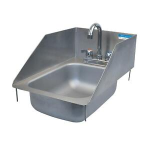 Bk Resources One Compartment 12 3 8 x18 1 2 Stainless Steel Drop in Sink