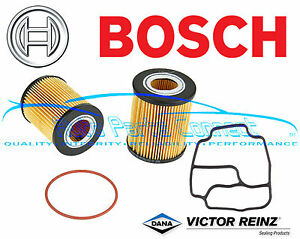 Bosch Oil Filter Kit For Bmw E39 E46 M54 E85 E36 E38 Housing Stand Gasket Reinz