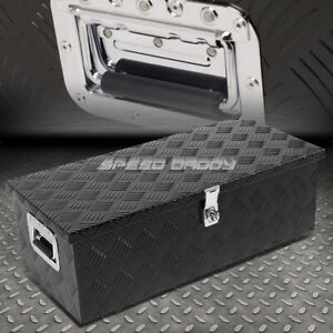 30 X13 X10 Black Aluminum Pickup Truck Trunk Bed Tool Box Trailer Storage Lock