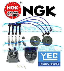 Igntion Kit For Honda Civic Ngk Spark Plugs Wire Set Yec Cap Rotor Japan Dx Ex