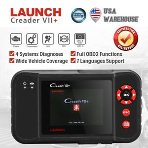 Launch X431 Creader Vii Obd2 Car Code Reader Engine Transmission Abs Srs Crp123