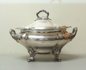 Monumental Old Sheffield Plate Osp Lidded Tureen 12 X 15 C 1830 S