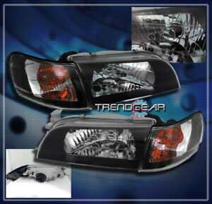 1993 1997 Toyota Corolla Crystal Head Lights corner Signal Black 1994 1995 1996