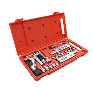 Flaring Swaging Tool Set Tube Cutter Pipe Repair Refrigeration Expander W Case