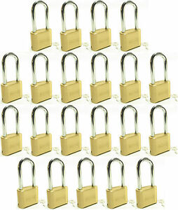 Lock Brass Master Combination 175lh lot Of 21 Long Shackle Resettable Secure