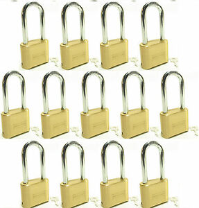 Lock Brass Master Combination 175lh lot Of 13 Long Shackle Resettable Secure