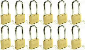 Lock Brass Master Combination 175lh lot Of 12 Long Shackle Resettable Secure