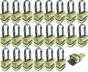 Combination Lock Set Master 1175lh lot 22 Resettable Long Brass Sealed Carbide