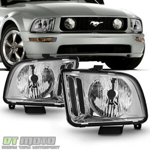 2005 2009 Ford Mustang Headlights Headlamp Replacement Left right 05 06 07 08 09